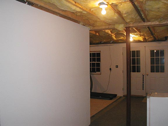 old basement area with support pole